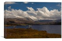 Loch Asynth with Ardvreck Castle, Canvas Print