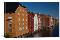 Old Town, Brygge, Canvas Print