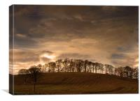 'Just Over the Hill', Canvas Print