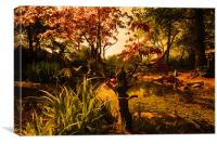 Pond View at the Japanese Gardens, Canvas Print