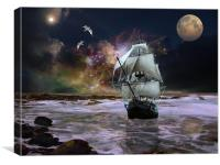 Her Guiding Star, Canvas Print
