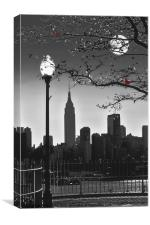 MANHATTAN MOONLIGHT, Canvas Print