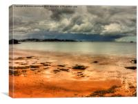 Storm In Torbay, Canvas Print