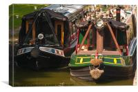 Kennet and Avon Narrow Boats, Canvas Print