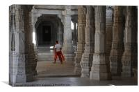 temple watching, Canvas Print