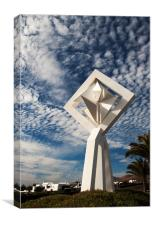 Manrique Sculpture, Canvas Print