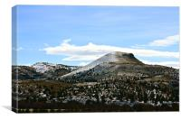 Hill Top with Frosting, Canvas Print