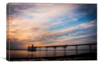 Clevedon Pier at Sunset, Canvas Print