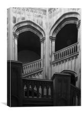 Marble Staircase, Canvas Print