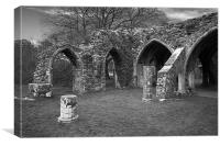 Margam Abbey, Canvas Print