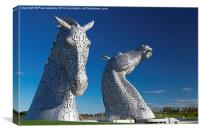 The Kelpies at the Helix, Falkirk 2, Canvas Print
