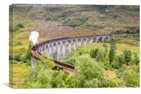 Jacobite Stream Train - Glenfinnan Viaduct, Canvas Print