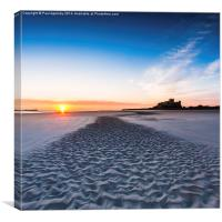 Bamburgh Ripple, Canvas Print