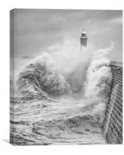 Storm Force Tynemouth, Canvas Print