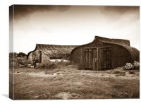 Recycling On Holy Island, Canvas Print
