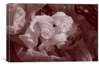 A bunch of Roses, Canvas Print