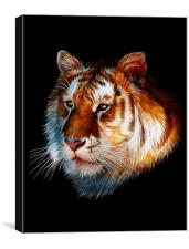 Zeus, Tiger Fractal Art, Canvas Print