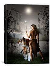 Moon Warrior, Canvas Print