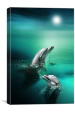 Delightful Dolphins, Canvas Print