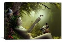 Lady of the Forest, Canvas Print