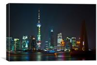 Shanghai with Pearl TV Tower, Canvas Print
