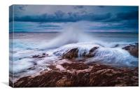Gullane Bents Waves, Canvas Print