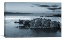 Blue Rock Coast, Canvas Print