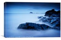 Blue Bass Rock, Canvas Print