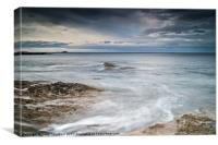 Dunbar with Bass Rock View, Canvas Print