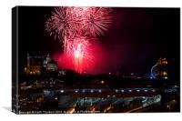 Edinburgh 2012 New Year Celebrations, Canvas Print