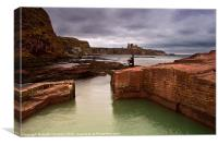 View of Tantallon Castle, Canvas Print