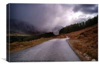 Road to Loch Etive, Canvas Print