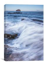 Waves to Bass Rock, Canvas Print