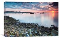 North Berwick Sunset, Canvas Print
