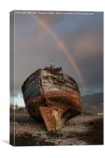 Old Boat on Coal Bay, Canvas Print
