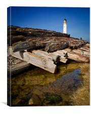 Barnsness Lighthouse, Canvas Print
