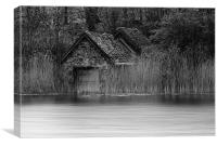 Old Boat House, Canvas Print