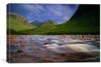 River to loch Etive, Canvas Print