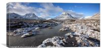 A dusting of snow in Glencoe., Canvas Print