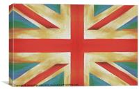 Retro GB, Canvas Print