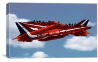 The Red Arrows Synchro Pair, Canvas Print