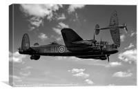 Avro Lancaster with Spitfire, Canvas Print