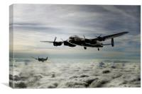 Lancaster and Spitfire Duo, Canvas Print