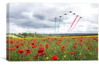 Red Arrows Tribute, Canvas Print