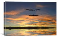 Sunset Lancasters, Canvas Print