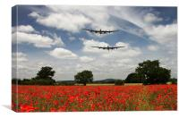 Two Lancasters Poppy Pass , Canvas Print