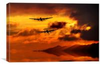 Lancasters and Sun Rays , Canvas Print