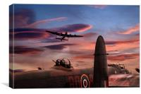 Lancaster Waits, Canvas Print