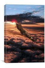 Spitfire Sundown , Canvas Print