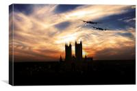 Lancs Over The Cathedral , Canvas Print
